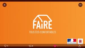 Rénovation: L'Ademe et le Ministre de la Transition écologique lance la campagne #Faire. Parce que c'est moins cher que de ne rien faire.