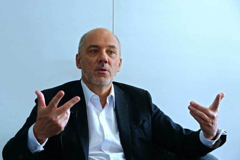 Le PDG d'Orange Stéphane Richard à Paris le 20 avril 2017