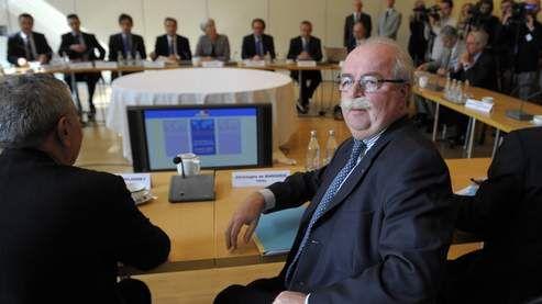 Christophe de Margerie au grand conseil à Bercy, face à Mme la ministre en 2011
