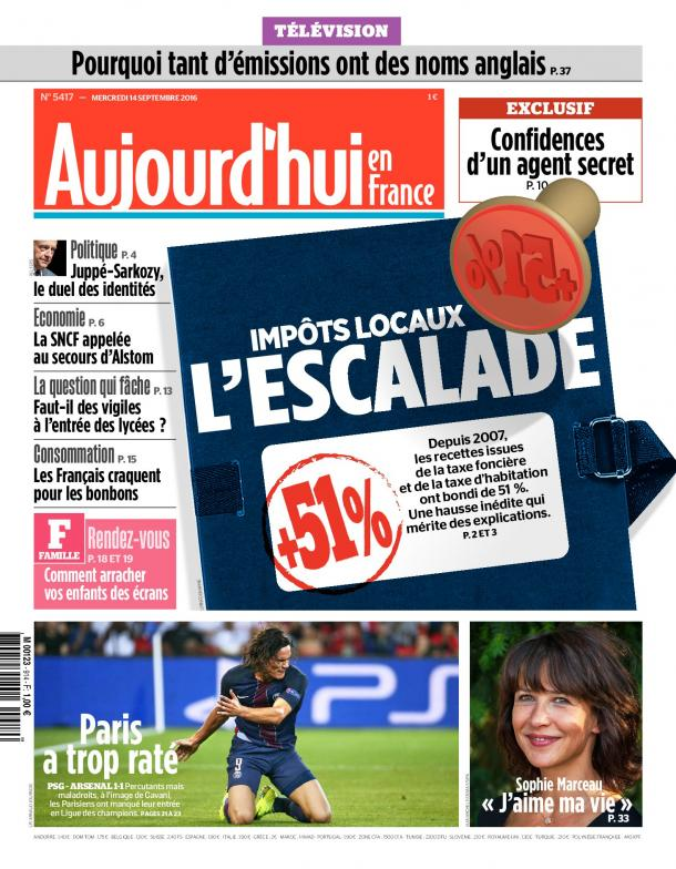 La Nouvelle formule du PARISIEN , AUJOURD'HUI EN FRANCE n'a rien à voir avec la nouvelle taxe