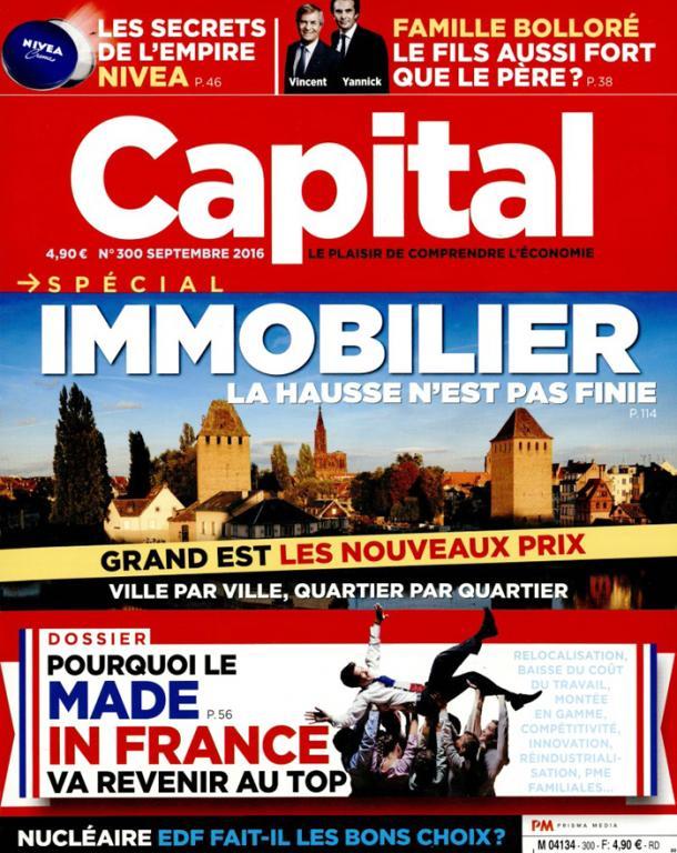 L'hebdomadaire Capital, édition de septembre 2017