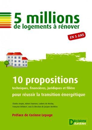 Cinq auteurs, 10 propositions, un marché de 50 milliards d'euros d'ici 2017: Joli Chantier !