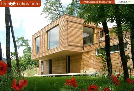 La maison en bois Savoyarde qui a inspiré la page d'accueil de Domoclick.com