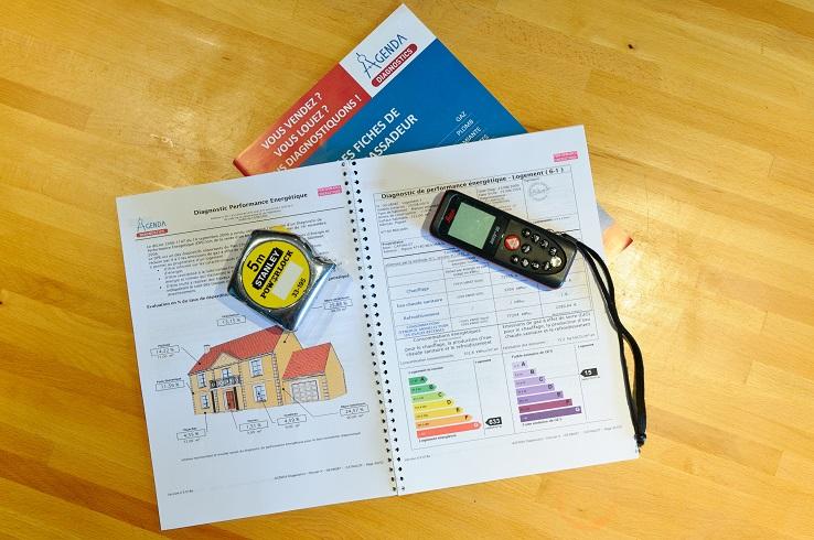Appareils de mesure servant à l'établissement d'un dossier de DPE: diagnostic de performance énergétique.